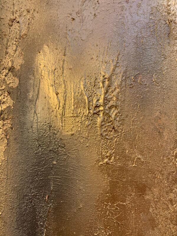 Gold wall art