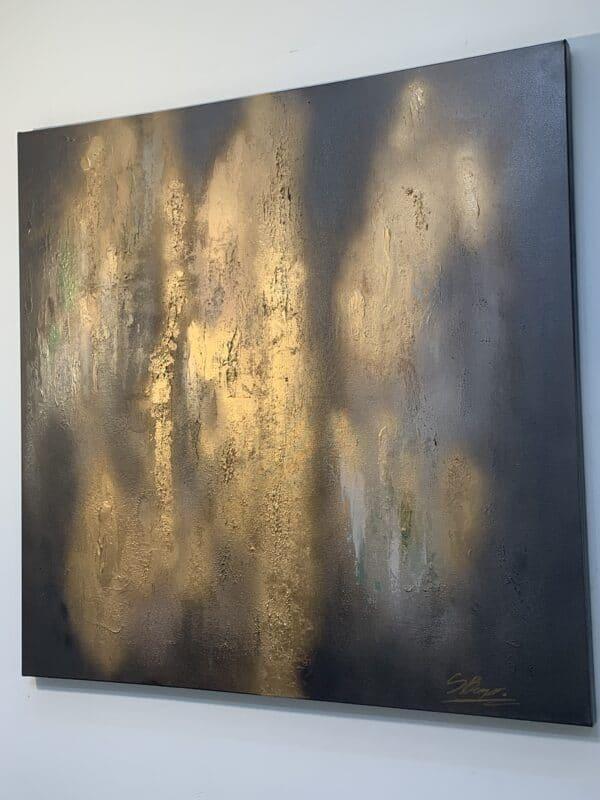 gold abstract wall art